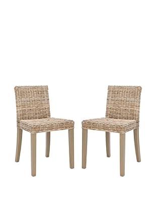 Safavieh Set of 2 Tulum Side Chairs, Grey Wash