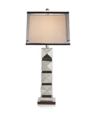 Greenwich Lighting Reflections Table Lamp, Mirror/Bronze