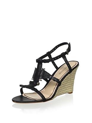 Pour La Victoire Women's Betsy Wedge Sandal (Black)