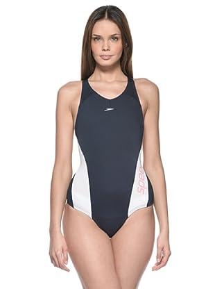 Speedo Badeanzug Aquacharge Endurance+® (blau/weiß)