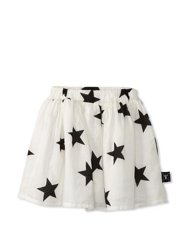 NUNUNU Kid's Star Skirt (White)