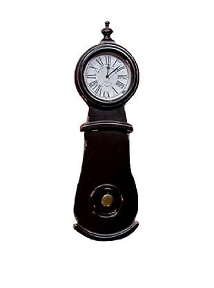Winward Grandfather Wall Clock, Antique Black