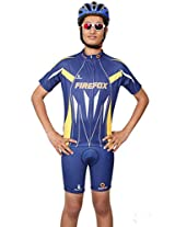 Firefox Knife Men's Polyester Cycling Jersey Blue (XXL)