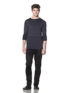 ZAK Men's Button Shoulder Sweater (Navy)
