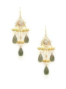 Diane Yang Olive Chandelier Earrings