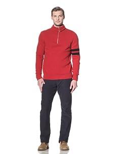 Benson Men's Quarter-Zip Sweater (Red)