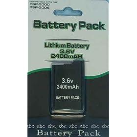 【クリックで詳細表示】【高品質】PSP2000専用 バッテリー 2400mAh SBCお得Ver.: ゲーム