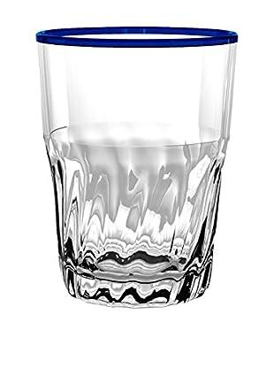 Cantina Acrylic Large Highball Glass, Clear/Blue