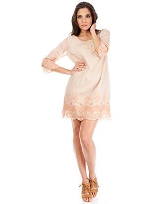 Cortefiel Kleid (beige/lachs)