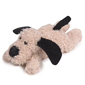Grriggles 5-Inch Pee Wee Pup Plush Dog Toy with Floppy Ears, Latte
