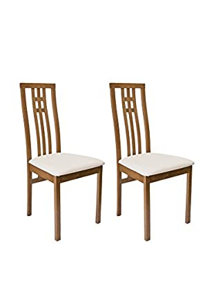 Aeon Furniture Set of 2 District-2 Chairs, Walnut