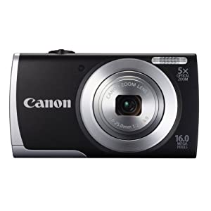 Canon PowerShot A2500 16MP Point-and-Shoot Digital Camera (Black) with SD Card, Camera Case