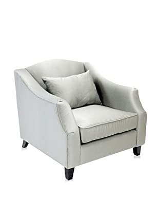 Armen Living Garbo Armchair, Silver