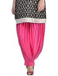 Sohniye Women's Viscose Patiala [GAKP05_Pink_Free Size]