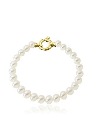 Manufacture Royale Pulsera de Oro Amarillo 9 ct con Perlas Blancas (8-8,5 mm)
