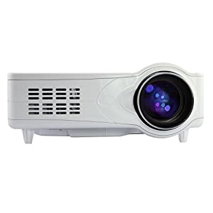 White LED Projector Home Theater/Cinema HDMI 1080P 3D Built-in Speaker, 2W x 1 Audio Output