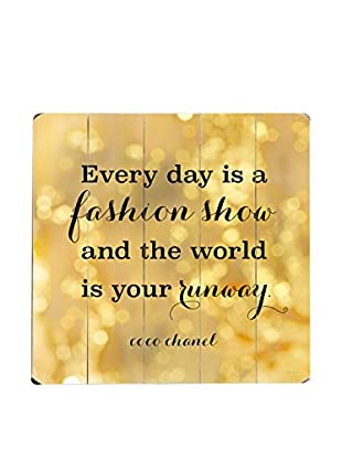 ArteHouse Everyday Is a Fashion Show Wood Wall Décor, Gold