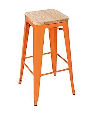 LO+DEMODA Set Taburete de bar 2 Uds. High Ural Color Edition Naranja