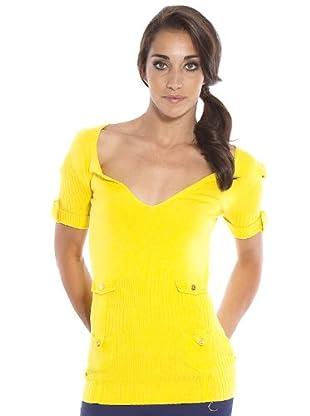 PEDRO DEL HIERRO Jersey Tachuelas Bolsillos (amarillo)