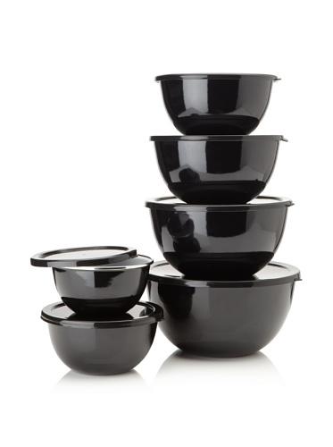 Reston Lloyd Calypso Basics 12-Piece Bowl Set (Black)