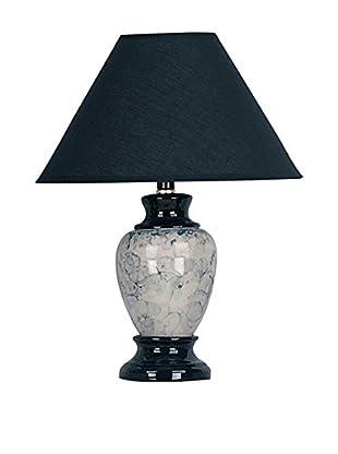 ORE International Ceramic 1-Light Table Lamp, Black