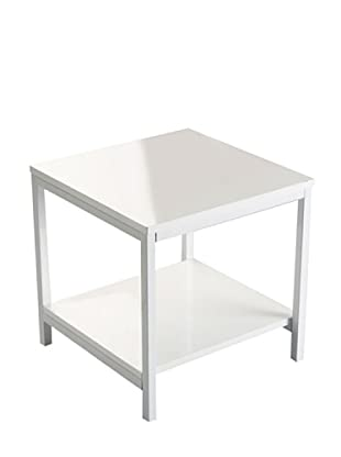 Mesas auxiliares blancas