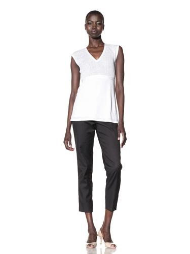 Lafayette 148 New York Women's V-Neck Tunic (Linen White)