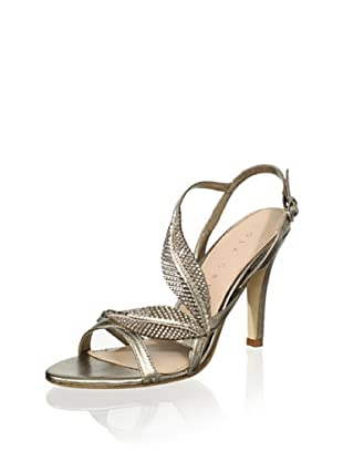 Lola Cruz Women's High Heel Sandal (Platino)