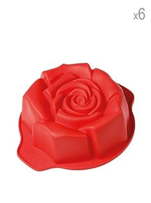 Pavoni Set 6 Mini Moldes Rosas