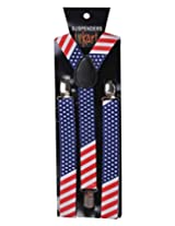 Tiekart Red & Blue Holding It Up-Uncle Sam Suspenders