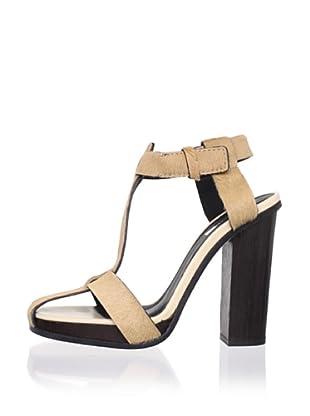 Calvin Klein Collection Women's Faris T-Strap Sandal (Gold)