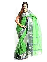 UDAY Bengal Saree (UDSIZB3_Dark Green)