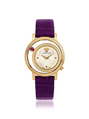 Versace Women's VDA020014 Venus Purple Leather Watch