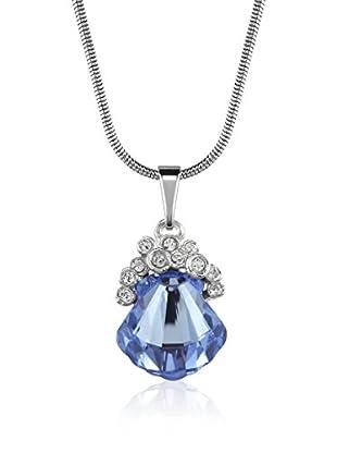 Absolute Crystals Set Kette und Anhänger Sea Shell kornblumenblau