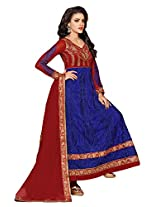 atisundar Attractive Red And Blue embroidered Party Wear Anarkali- 6685_40_703