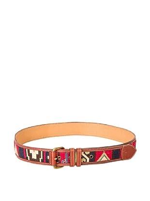 Cortefiel Cinturón Pantalón Navajo (Rojo)