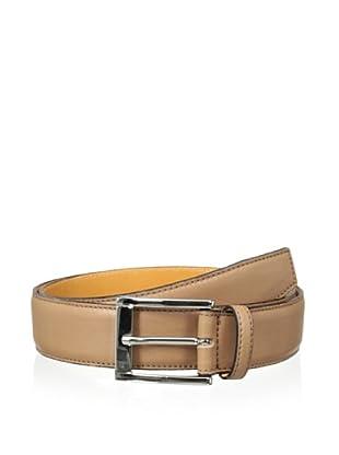 Leone Braconi Men's Sauvage Bullskin Belt (Cognac)