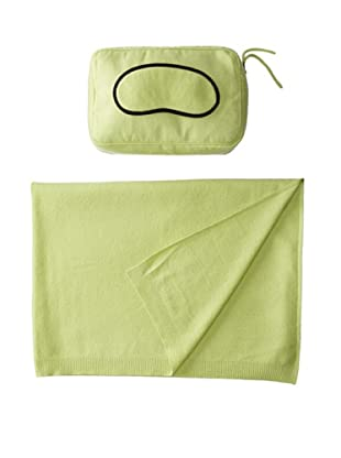 Sofia Cashmere Romagna Jersey Knit Travel Set (Apple Green)