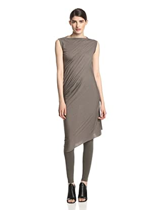 Rick Owens Lilies Women's Asymmetrical Draped Tunic Top (Dark Dust)