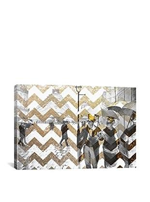 Paris Street VII Gallery Wrapped Canvas Print