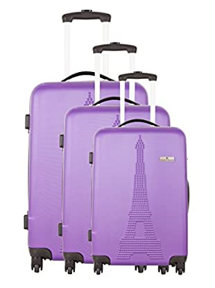 Platinium Set 3 Trolley 4 Ruedas Paris (Violeta)