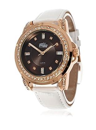 Pit Lane Uhr mit Miyota Uhrwerk Pl-4003-3 weiß 36 mm