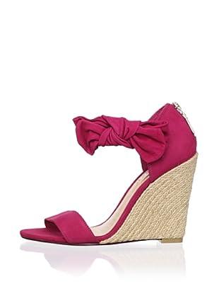 Schutz Women's Bow Wedge Sandal (Pink Berry)