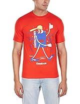 Reebok Men's Round Neck Cotton T-Shirt