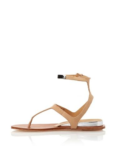L.A.M.B. Women's Mikalah Flat Sandal (Natural)
