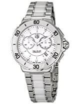 Tag Heuer Women's CAH1211.BA0863 Formula One Chronograph Watch (Silver/White)