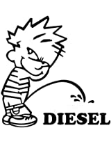 Indiashopers Baby Diesel Sides, Windows Car Sticker (Black, White)