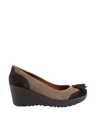 Liberitae Zapatos tacón Borlas (Marrón / Topo)