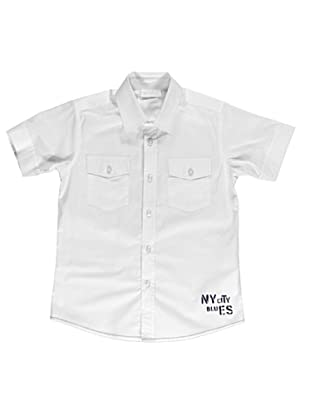 Camisa Manga Corta Stampata (Blanco)