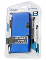 3DS Aluminum Shell plus Stylus Pens Kit - Blue